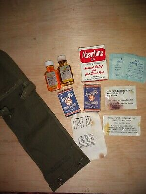 Original Wwii Us Aviator First Aid Kit With Contents