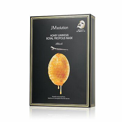 JM Solution Honey Luminous Royal Propolis Mask Black 10pcs in box Hydrating Mask