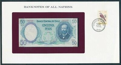 "World: 1961-85 Banknote/Stamp Cover ""SET 8 DIFFERENT"" Banknotes of all Nations"
