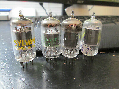 ~NOS new testing matched pairs of USA 12AX7 vacuum tubes 2 Sylvania and RCAs?