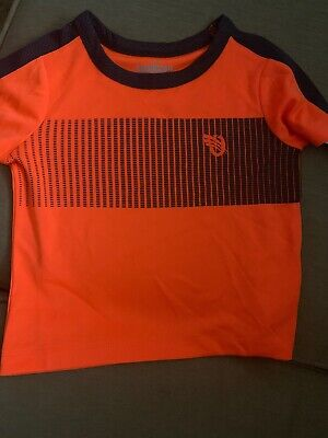 NWT Oshkosh Baby Boy Shirt Orange Dark Gray Athletic 18 Months