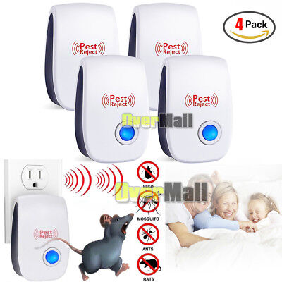 4Pack Ultrasonic Pest Repeller Control Electronic Repellent Mice Rat Reject 2018