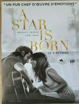 .Affiche cinéma  40x60     A STAR IS BORN     Lady GAGA