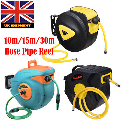 Garden Wall Mounted Hose Pipe Compact Reel With 10/15/30m Watering Equipment Kit