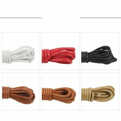 Round Waxed Shoelaces for Shoes Round Dress Shoes Boots Leather Shoe Laces NC
