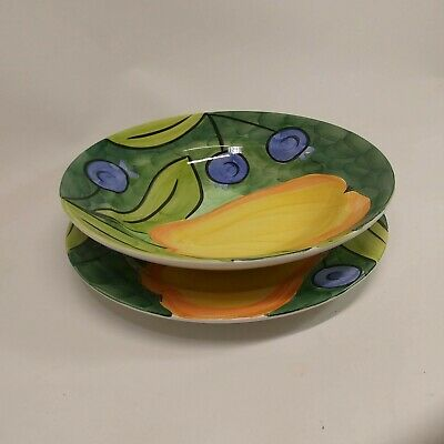 Bob Mackie Large Serving Bowl and Plate