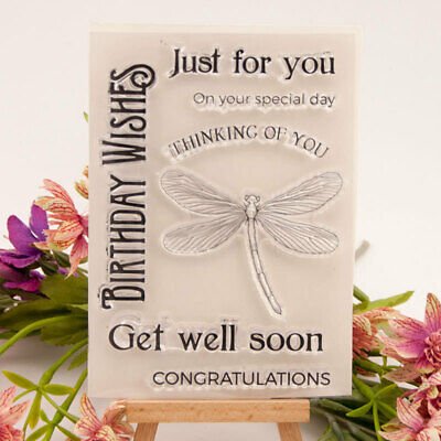 Birthday Wishes Silicone Clear Stamp Transparent Rubber Stamps DIY Scrapbooking