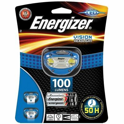 Energizer Vision 100 Lumens Bright Torch Headlight LED Light 3 AAA Batteries