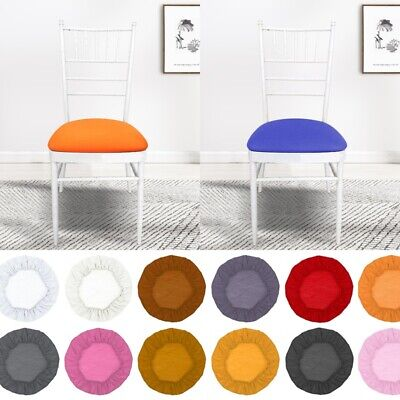 2/4pc Removable Round Elastic Stretch Slipcovers Home Dining Chair Seat Cover UK