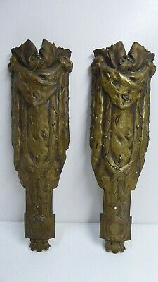 Antique Art Nouveau Decorative Cast Metal Panels Columns Furniture Decoration