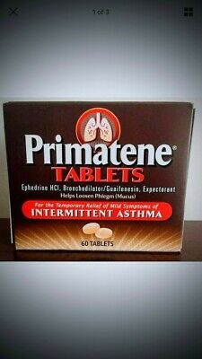 Primatene Asthma Relief Factory Sealed 60 Count Exp. 2021 FAST FREE SHIPPING