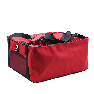 NEW Red Insulated Thermal Pizza Food Pizza Delivery Bag Size: 42*42*23cm