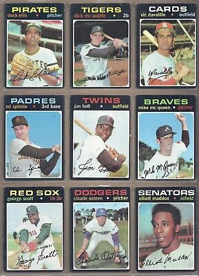 1971 Topps LOT OF 501 DIFFERENT *PICK ANY 10 TO COMPLETE YOUR SET* EX TO EX-NMT