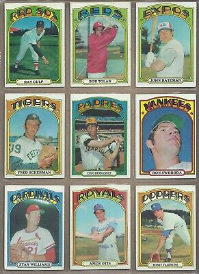 1972 Topps LOT OF 456 DIFFERENT *PICK ANY 10 TO COMPLETE YOUR SET* EX TO EX-NMT
