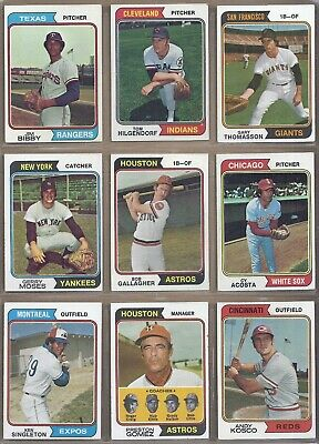 1974 Topps LOT OF 582 DIFFERENT *PICK ANY 10 TO COMPLETE YOUR SET* EX TO EX-NMT