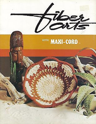 Vintage Fiber Arts with Maxi-Cord Book Macrame Weaving Crochet Basketry Patterns