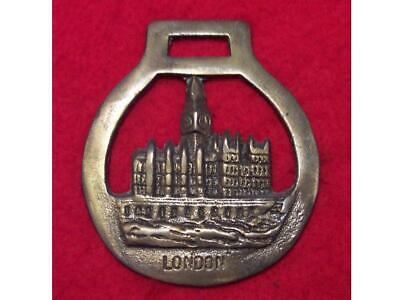 Vintage Cast Horse Brass of the Houses of Parliament in London #30
