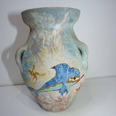 Museum Replica Ancient Greek MINOAN Dolphin Pottery Pithos/Vase 1600 BC
