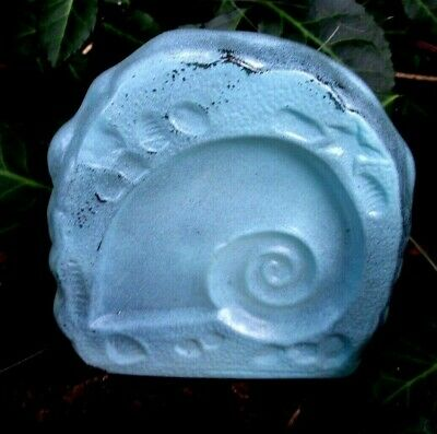"""Latex shell rock mold plaster cement casting mould 3.75""""H x 3.5"""" W x 3/4"""" thick"""