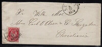 Norway 1874 3sk on cover Skien - Christiania