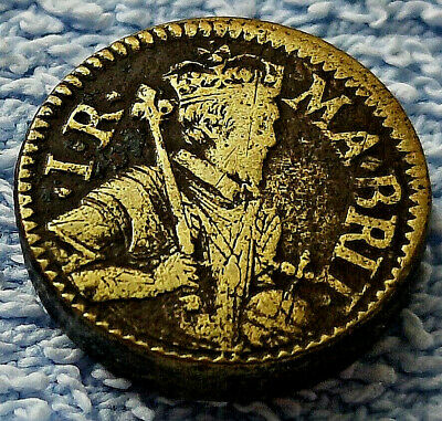 UNKNOWN Coin Weight Groat King James Circa 1600 Unusual Tudor XXII S Gold Lustre