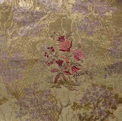 BEAUTIFUL SMALL PIECE 19th CENTURY FRENCH SILKY COTTON WATERED BROCADE 307