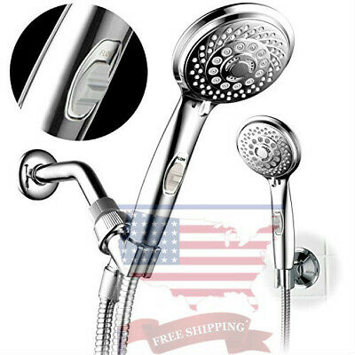 HotelSpa 7-setting AquaCare Series Spiral Handheld Shower Head Chrome Finish