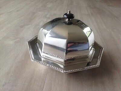 Stunning Antique Octagonal Silver Plated Food Muffin Warming Dish A Beardshaw