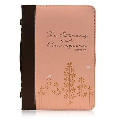 "WOMENS BIBLE COVER ""Be Strong and Courageous Joshua 1:9"" Book Accessory Burgundy"