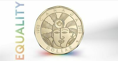Canada 2019 Gender Equality 50th Anniversary Right To Love LGBTQ2 Loonie.