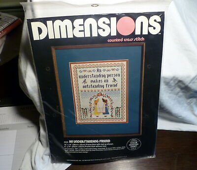 ** An Understanding Friend Counted Cross Stitch Sampler Kit 1982 Dimensions *