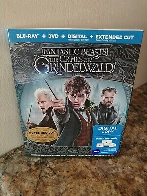 Fantastic Beasts The Crimes Of Grindelwald Blu-Ray + DVD + Digital +Extended Cut