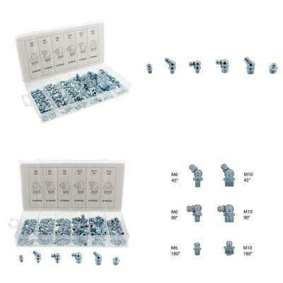 ABN Hydraulic Grease Zerk Fitting Metric 110-Piece Kit – Straight, 90-Degree,