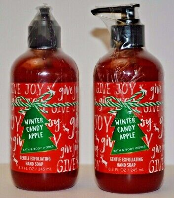 2 Bath & Body Works Winter Candy Apple Gentle Exfoliating Hand Soap New