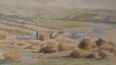 Antique Watercolour Painting by Listed Artist William Burbidge of English View