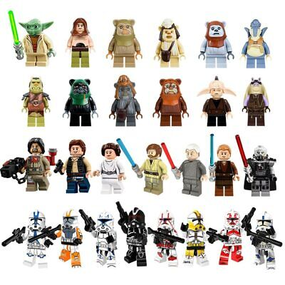 LEGO Star Wars Minifigures Jedi Darth Vader Yoda Lot Minifigures Clone Mini Lot