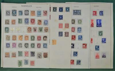 Norway Stamps Good Selection Of Early Issues On 11 Pages  (R72)