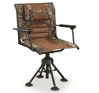 360 Comfort Swivel Hunting Chair w/ Armrests Full Nylon Bushing Steel Frame NEW