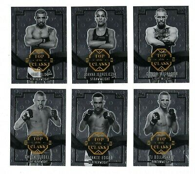 CONOR McGREGOR,DILLASHAW,PENN 2017 TOPPS CHROME UFC TOP OF THE CLASS (18 CARDS)