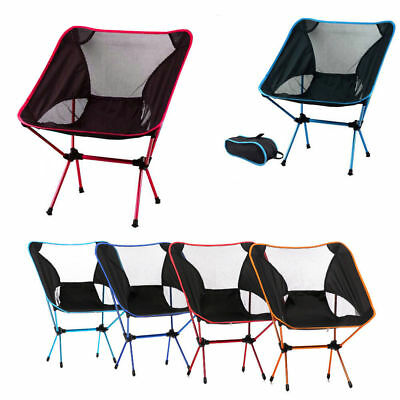 Folding Camping Chair Outdoor Hiking Beach Ultra-light Portable Foldable Chairs