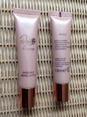 ROSIE FOR AUTOGRAPH Radiance Highlighter Bronze 15ml x 2 Brand New RRP£12.50each