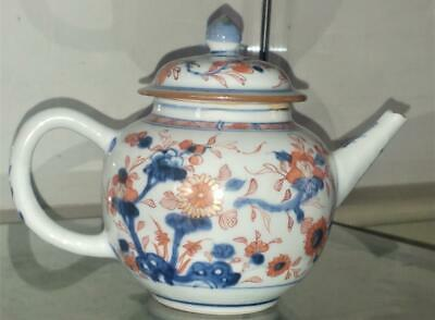 Fine Kangxi Period Imari Trailing Chrysanthemum Porcelain Tea Pot C 1700+