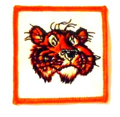 "Esso Gasoline Patch Embroidered Oil 3-1/4"" inches  vintage Tiger"