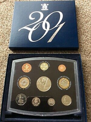 2001 UK Royal Mint Proof Coin Set (10)
