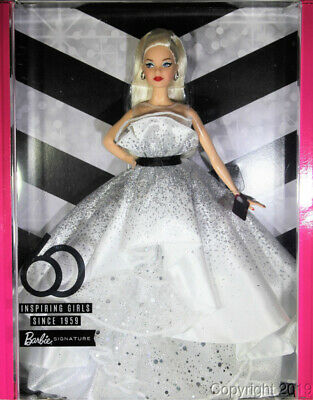60th Anniversary Blonde Barbie with Shipper IN STOCK