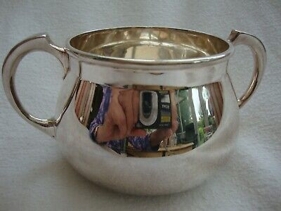 Antique Quality Mappin And Webb London Silver Princes Plate Sugar Bowl W20208
