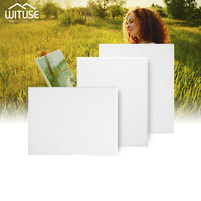 Canvas Panels 100% Cotton Blank Stretched Boards Acrylic Oil Paint Art Supply A