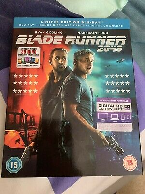 Blade Runner 2049 (Limited Edition Blu-Ray: 2 Discs, Art Cards & Download) New