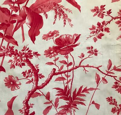 Beautiful 19Th Century French Toile De Jouy, Poppies & Florals 315.
