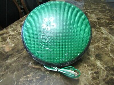 "Dialight Green 12"" LED Traffic Signal Caution Stop Light Part # 433-2225-001XL"